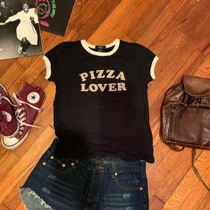 Pizza Lover 🍕 Ringer Tee Forever 21